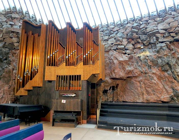 Церковь Темппелиаукио Хельсинки